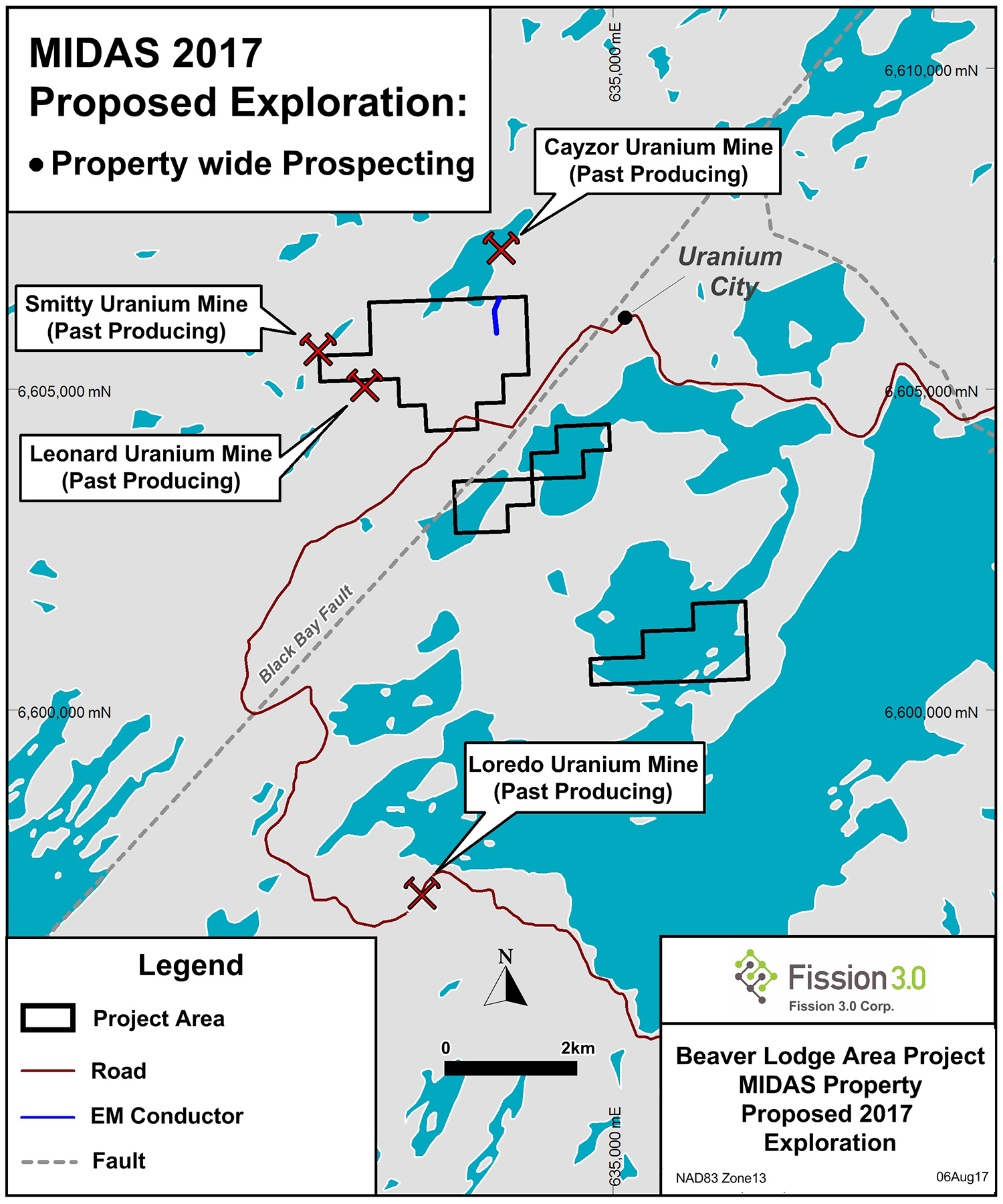 Beaver Lodge Area Project MIDAS Property Proposed 2017 Exploration